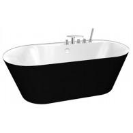 Акриловая ванна BelBagno BB14-NERO/BIA