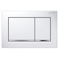 Кнопка слива инсталляций Geberit Omega 30 115.080.KJ.1 белая/хром
