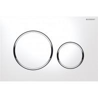 Кнопка слива инсталляций Geberit Sigma 20 115.882.KJ.1 пластик, белый/хром глянцевый