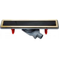 Душевой лоток Pestan Confluo Premium Gold Black Glass Line 450