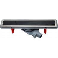 Душевой лоток Pestan Confluo Premium Line 550 черное стекло/сталь