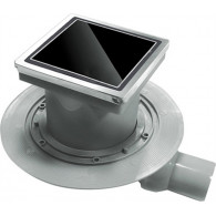 Душевой трап Pestan Confluo Standard Black Glass 1 15x15